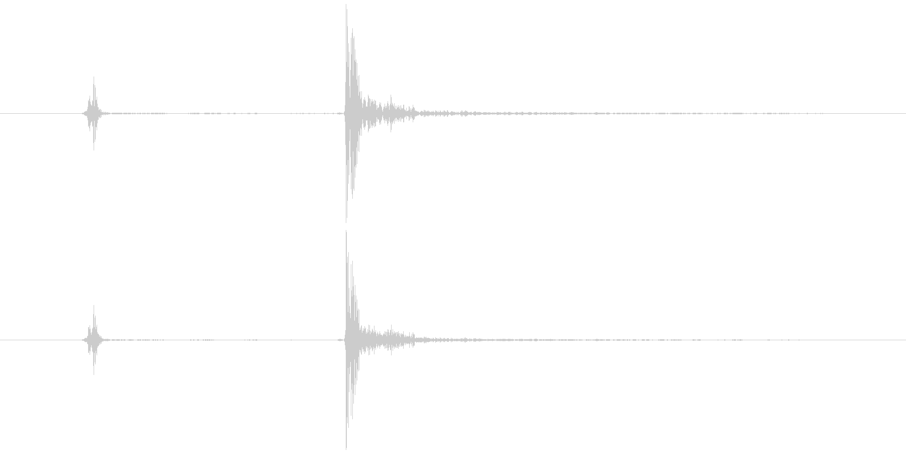ゲームの効果音 カタッの未再生の波形