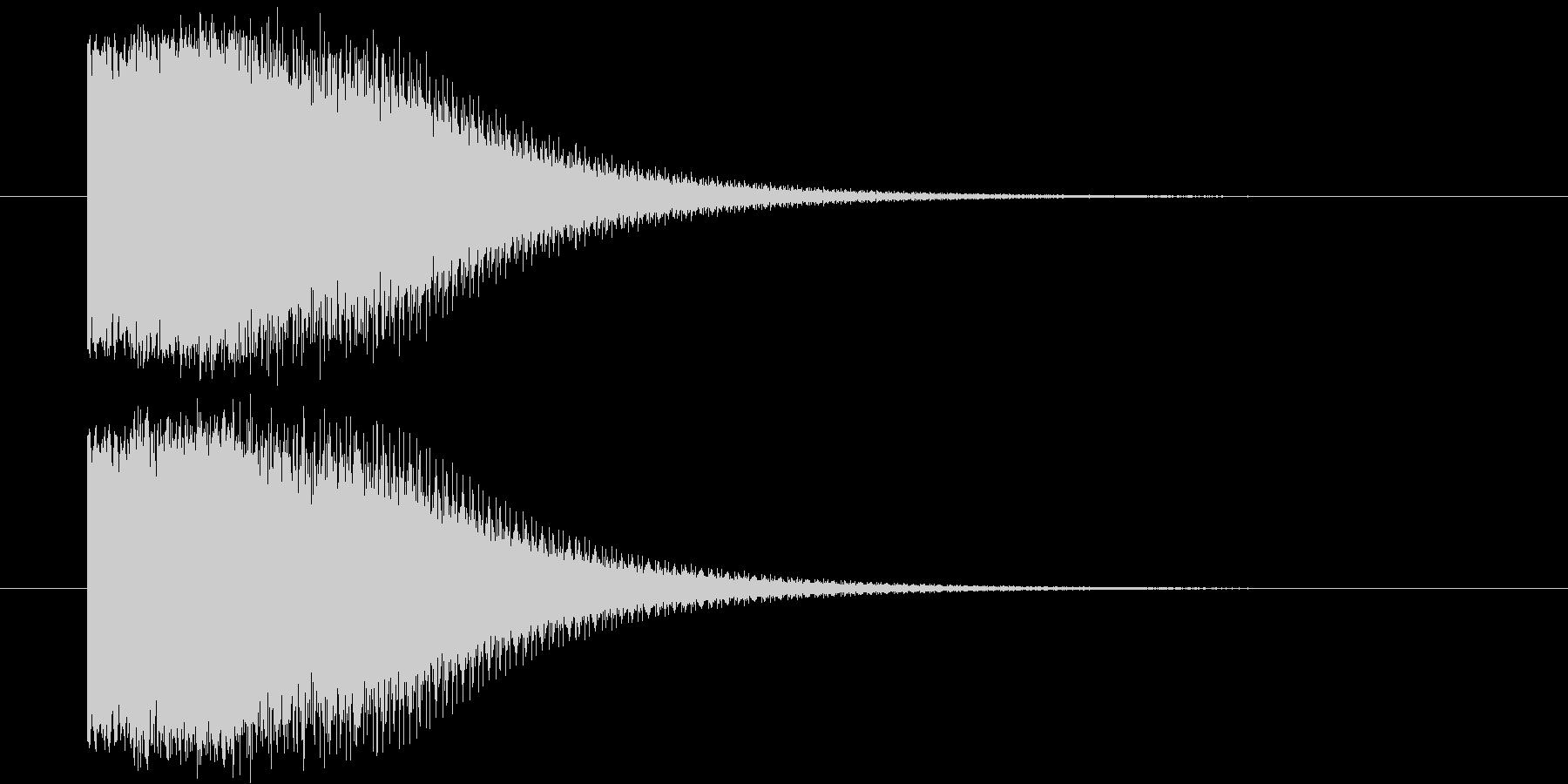 ヒーローが変身するイメージ(昭和風)の未再生の波形