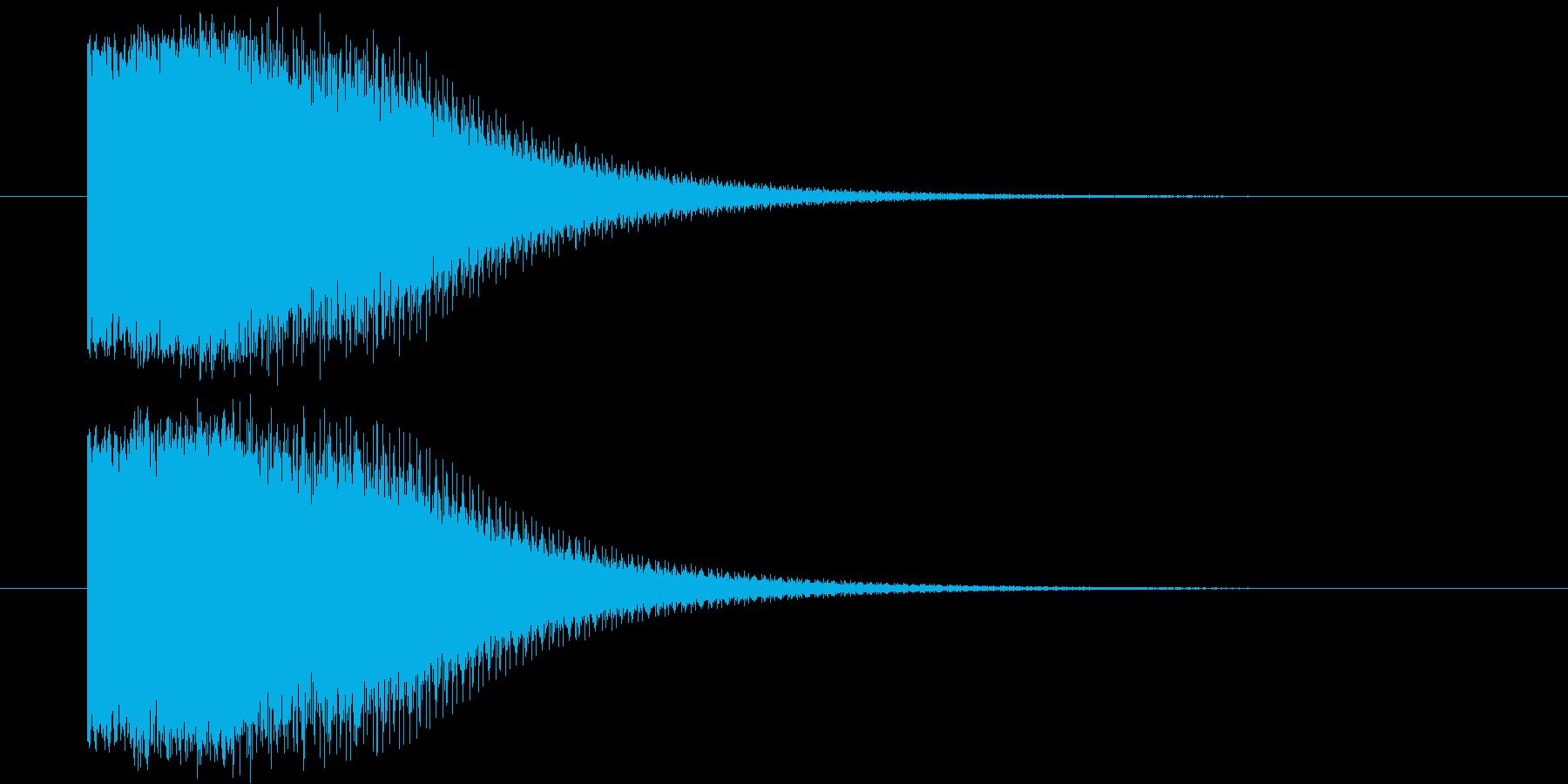 ヒーローが変身するイメージ(昭和風)の再生済みの波形