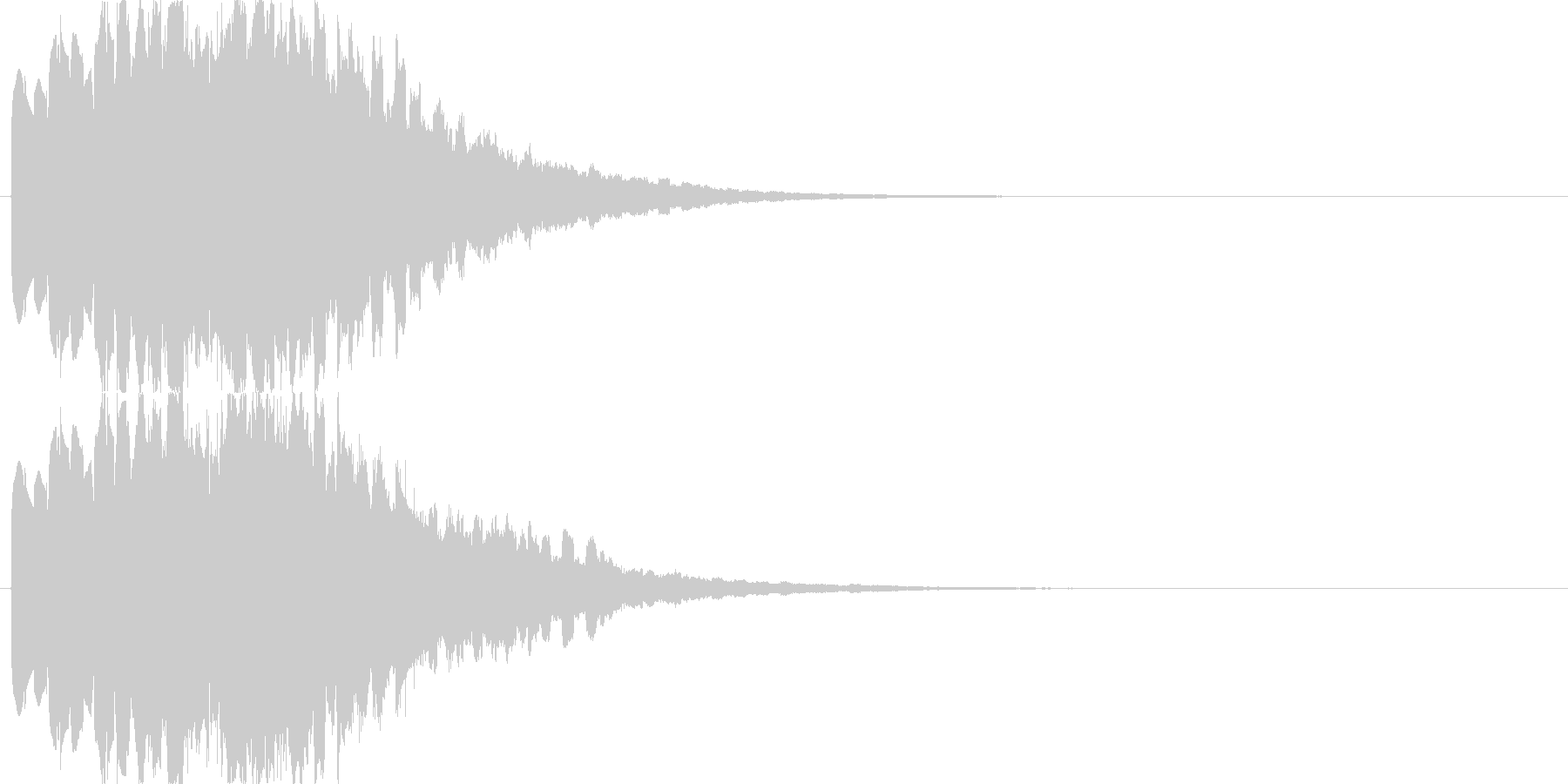 キラキラ・シャラララと広がるような音の未再生の波形