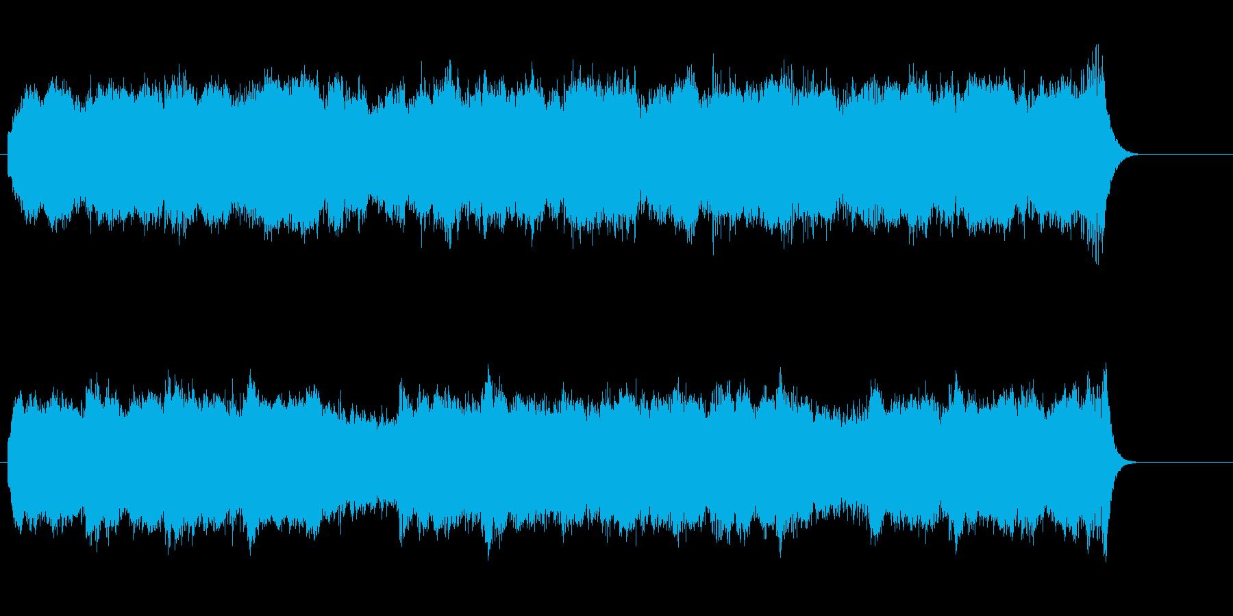 緊張感を持続するサスペンス風の再生済みの波形