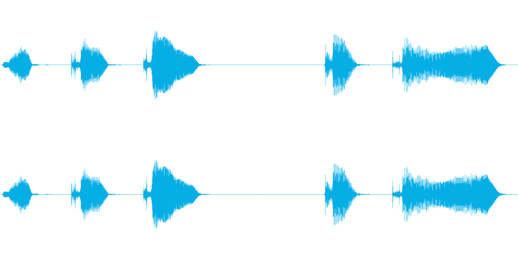 うきゅきゅ、きゅきゅ〜?の再生済みの波形