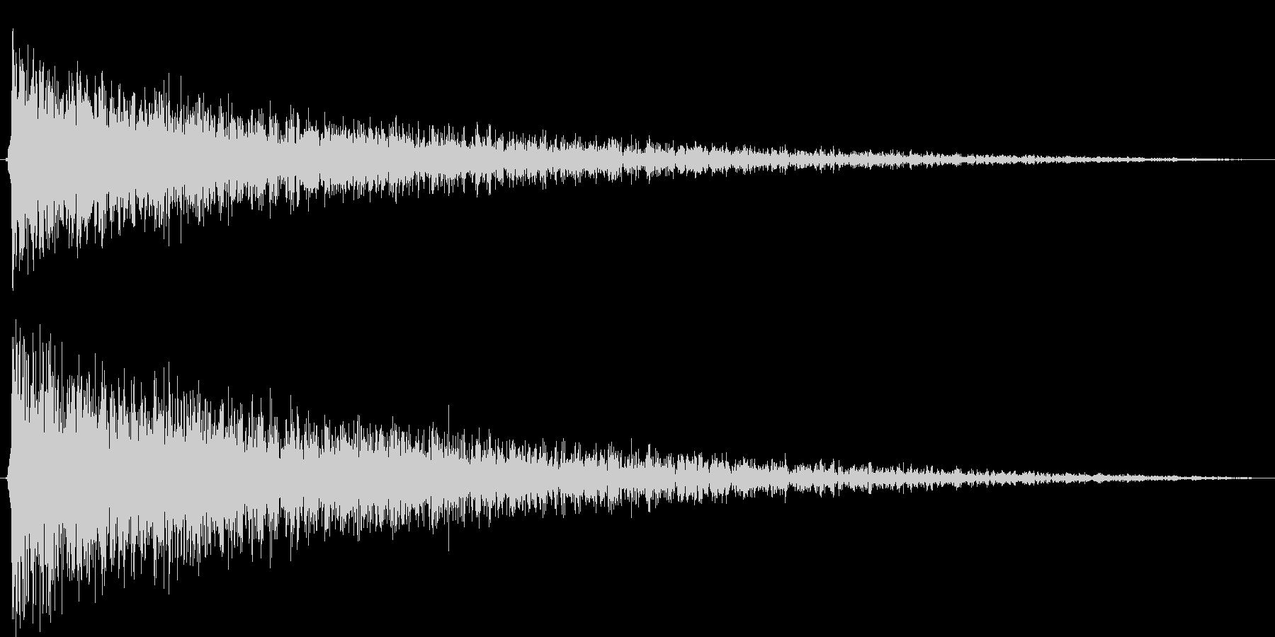 ショックを受ける(ピアノでガーン)の未再生の波形