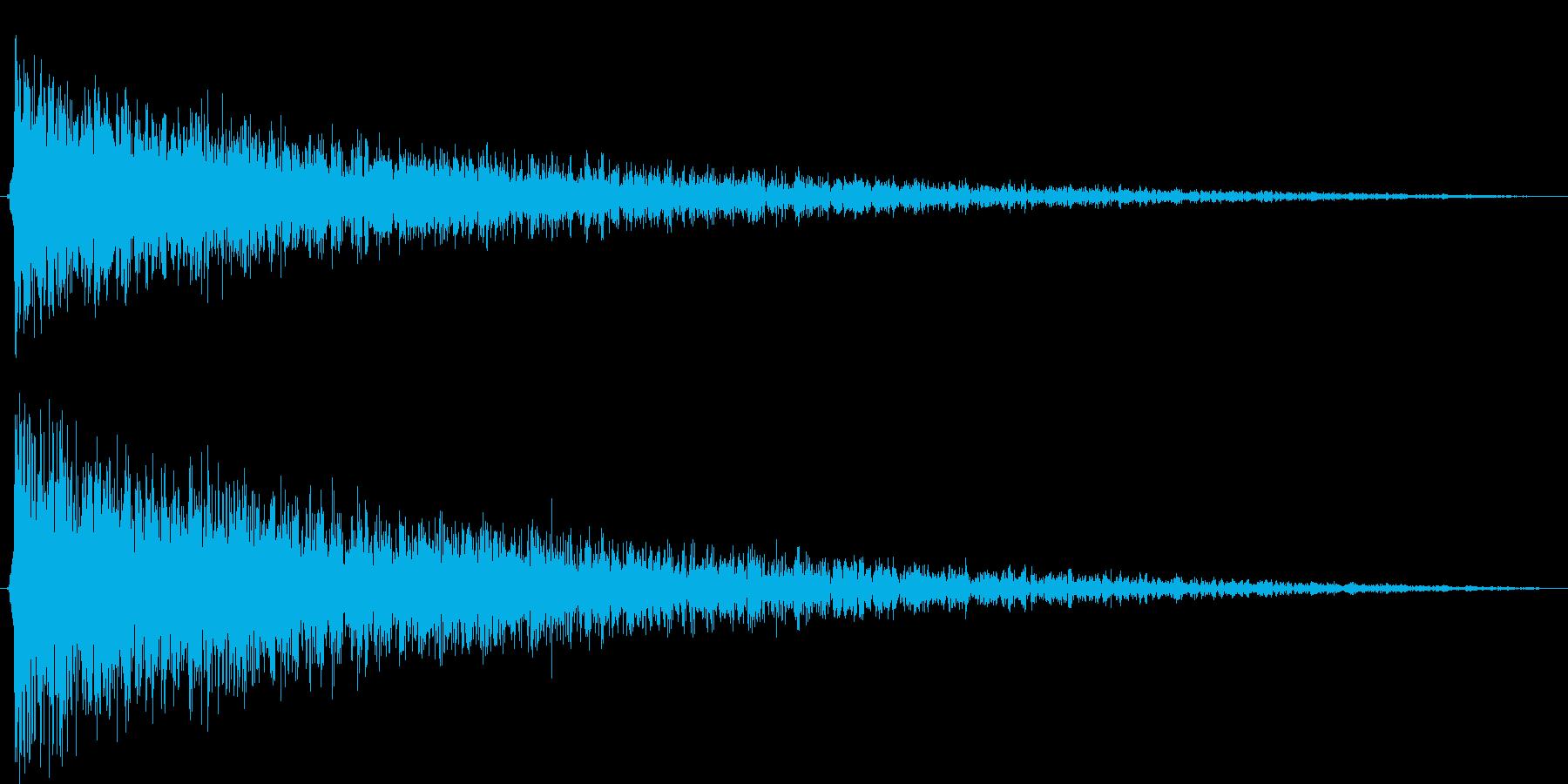 ショックを受ける(ピアノでガーン)の再生済みの波形