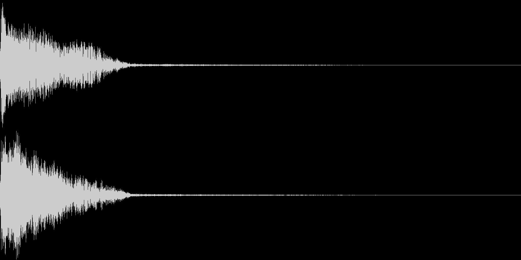InvaderBuzz 発砲音 1の未再生の波形
