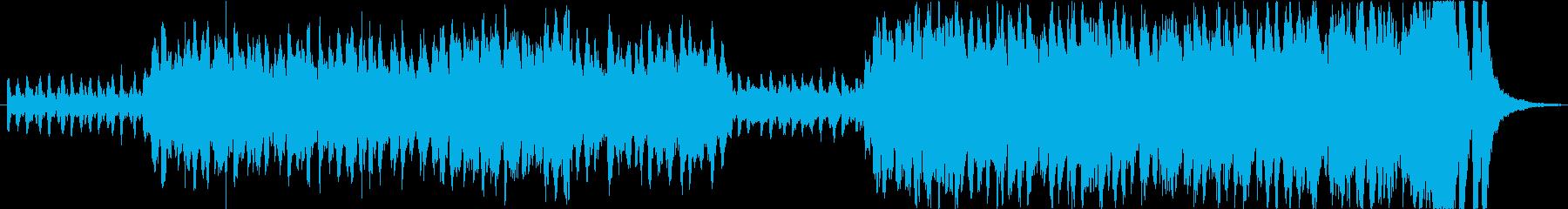 期待感高まるオーケストラ曲の再生済みの波形