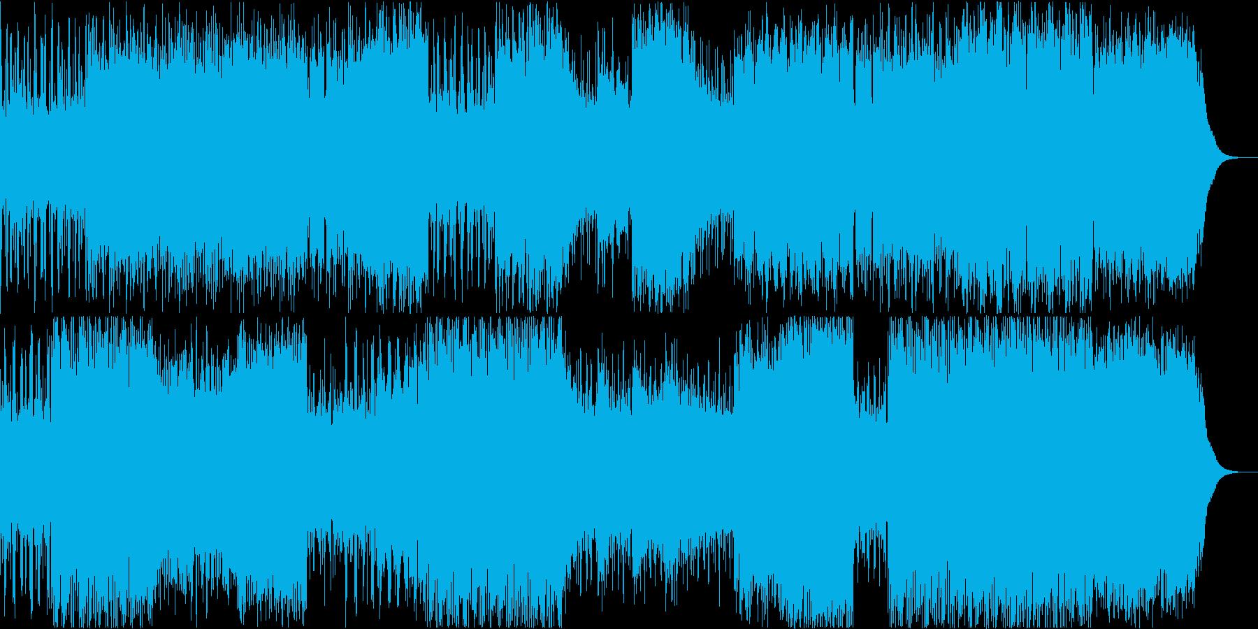 追いかけっこのシーンに合いそうなBGMの再生済みの波形
