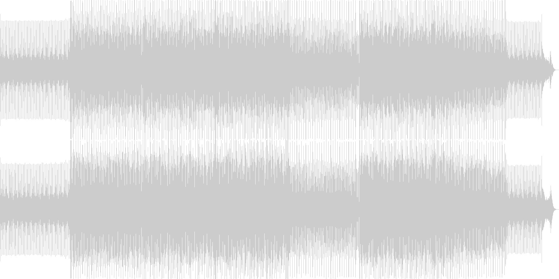 イベントが始まる前に流れるBGMの未再生の波形