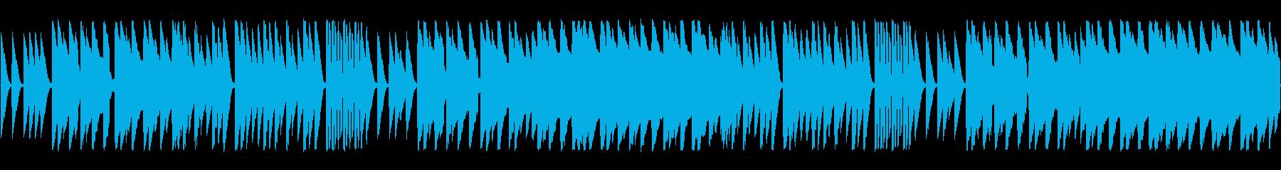ほのぼのした雰囲気のチップチューンの再生済みの波形