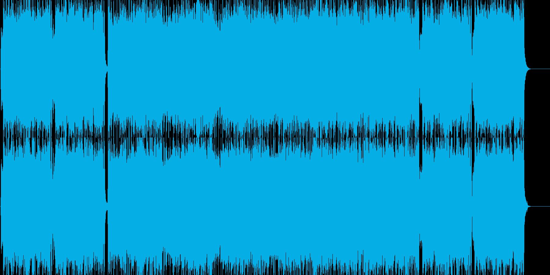 力強くパワフルな重厚ロックの再生済みの波形