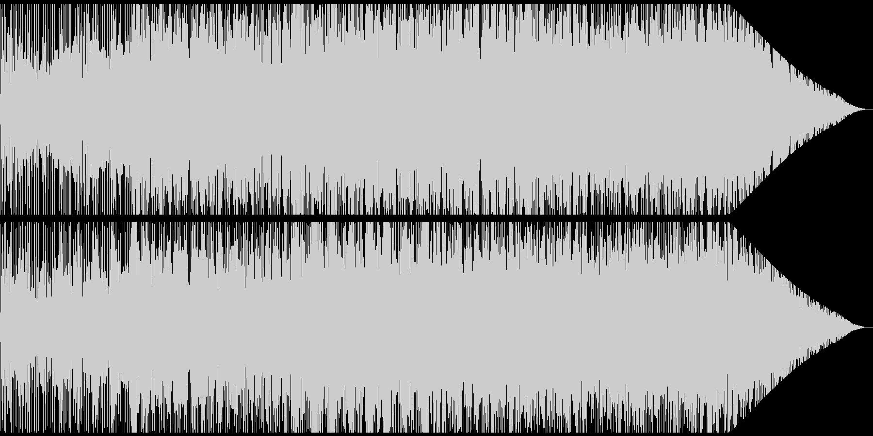 優しいメロディのBGMの未再生の波形