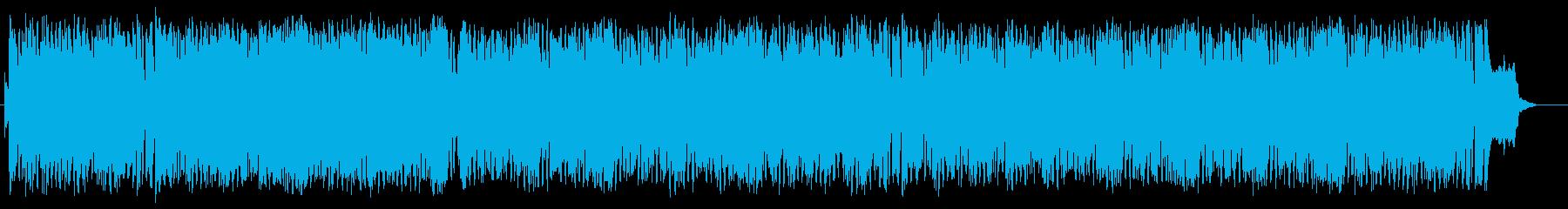 明るく元気でポップなシンセサイザーの曲の再生済みの波形