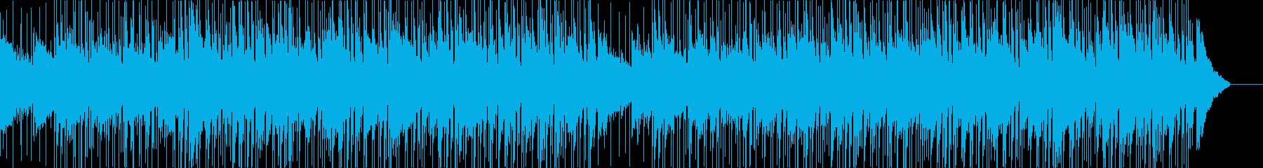 シンプルでクリーンな印象の解説向けBGMの再生済みの波形