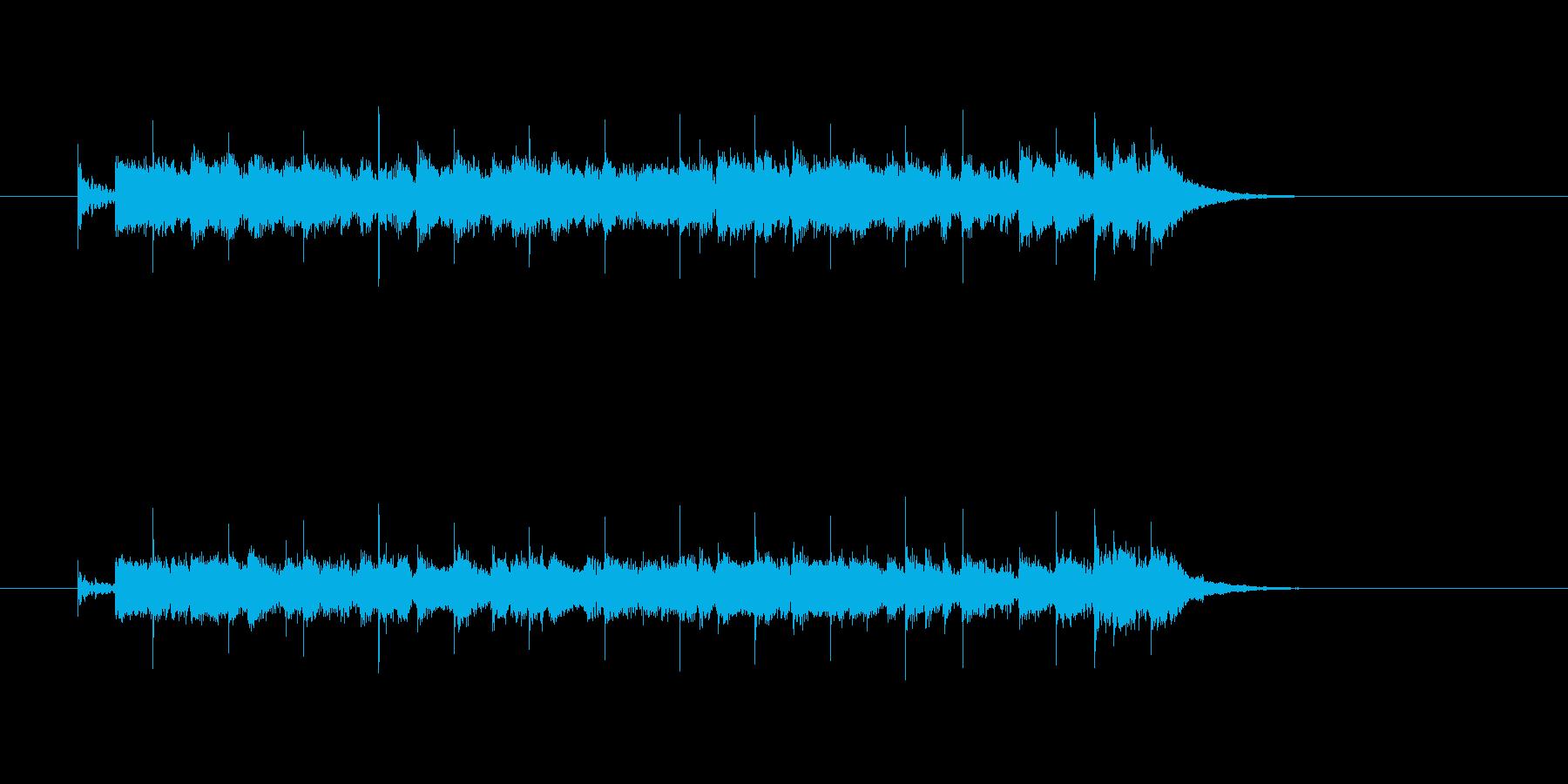 ジングル(テーマソング風)の再生済みの波形