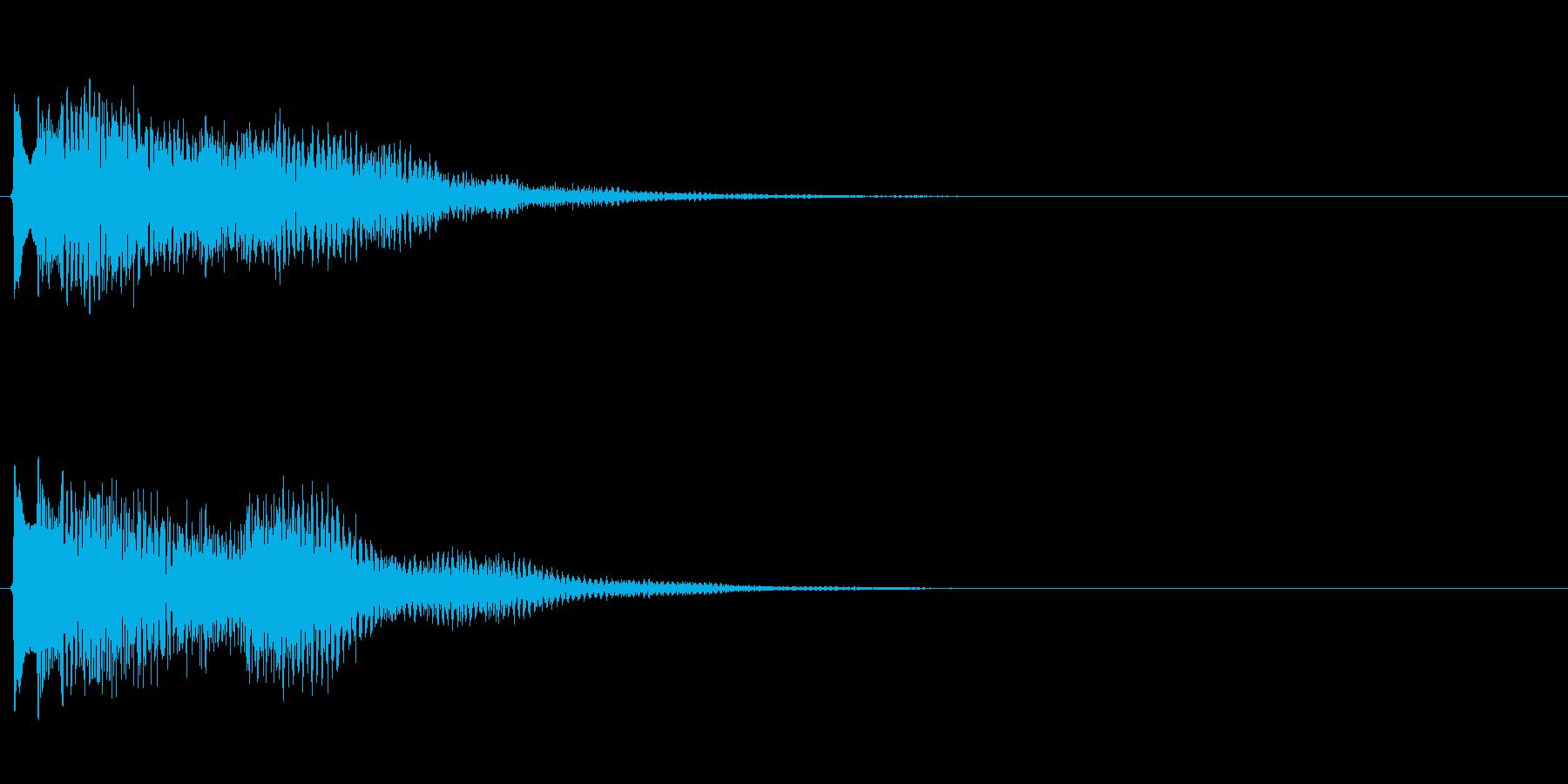 キラキラしたベルの下降音5の再生済みの波形