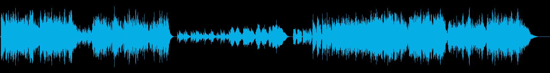 アコーディオンとギターの再生済みの波形