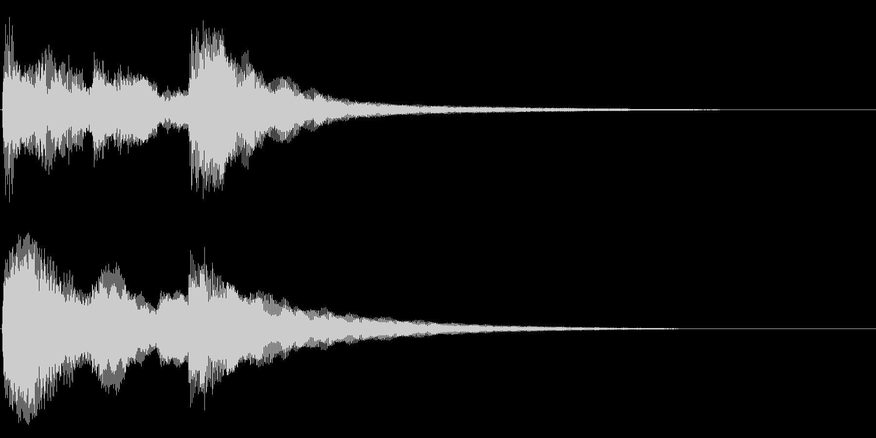 始まりのジングル の未再生の波形