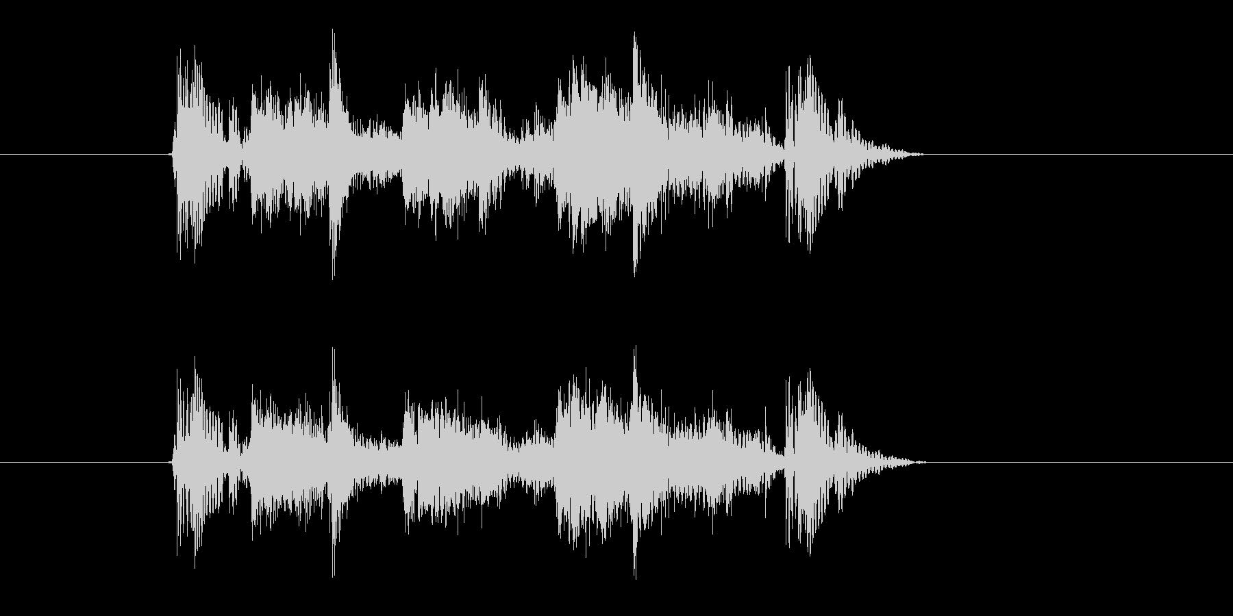 ファンキーサウンドなジングルの未再生の波形