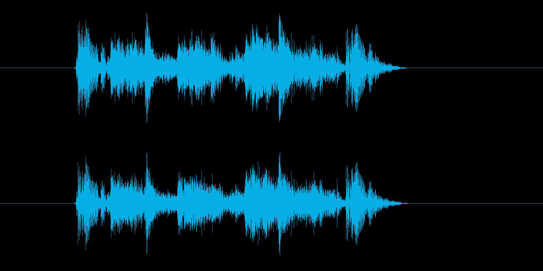 ファンキーサウンドなジングルの再生済みの波形