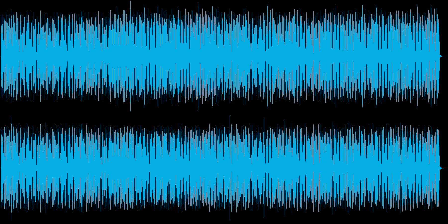 ワウギターが特徴のファンクミュージックの再生済みの波形