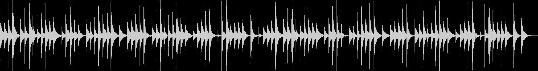 ロンドンデリーの歌のオルゴールアレンジの未再生の波形