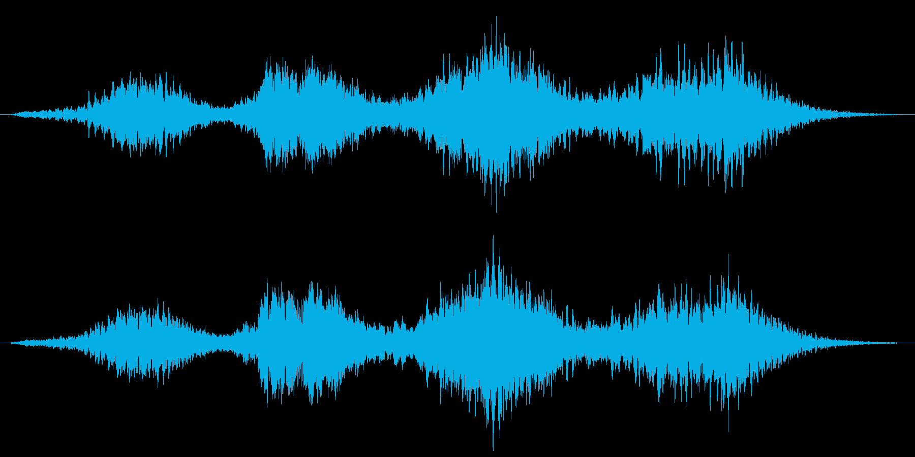 幻想的 不思議 浮遊感のあるフレーズの再生済みの波形