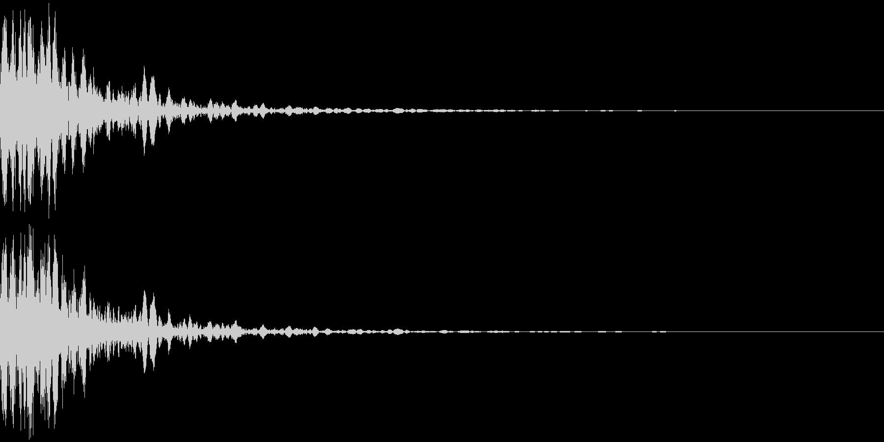 発射音の未再生の波形