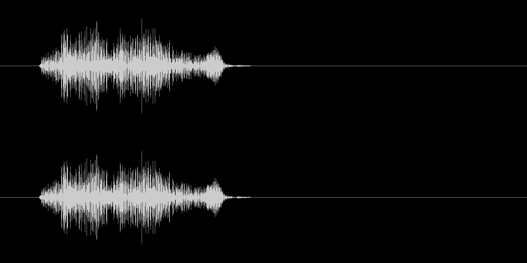 キュッという摩擦系の音の未再生の波形