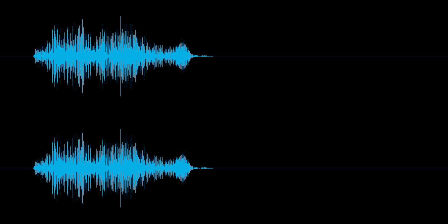 キュッという摩擦系の音の再生済みの波形