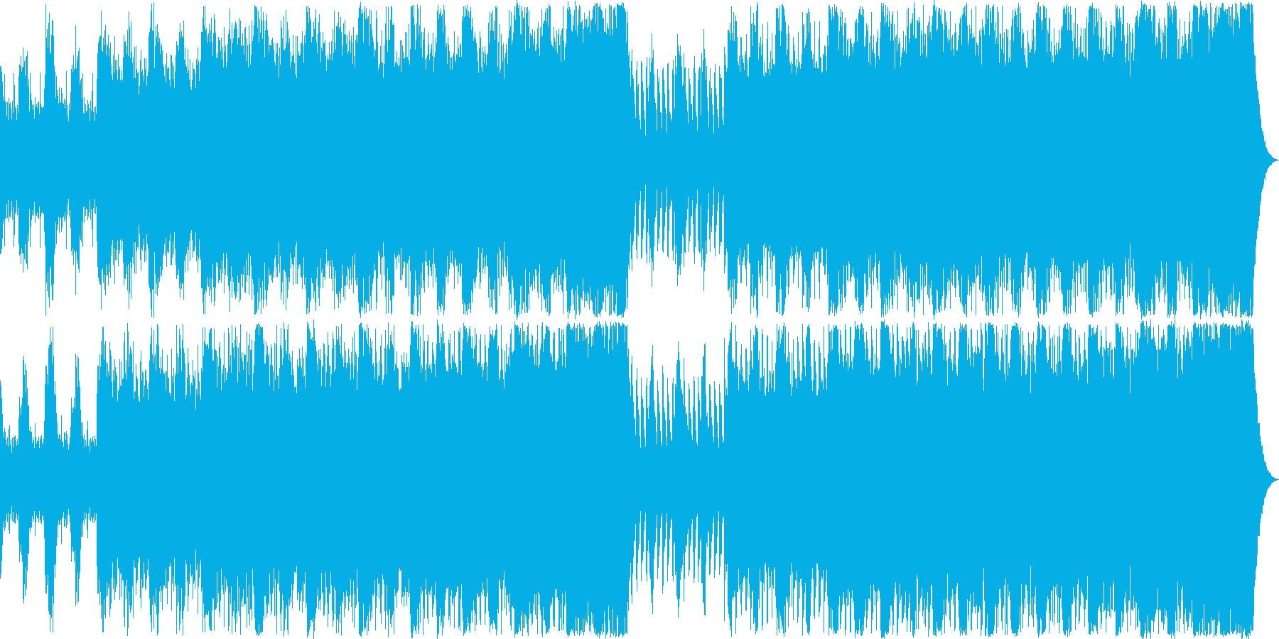 戦闘 緊迫 ゲーム オーケストラBGMの再生済みの波形