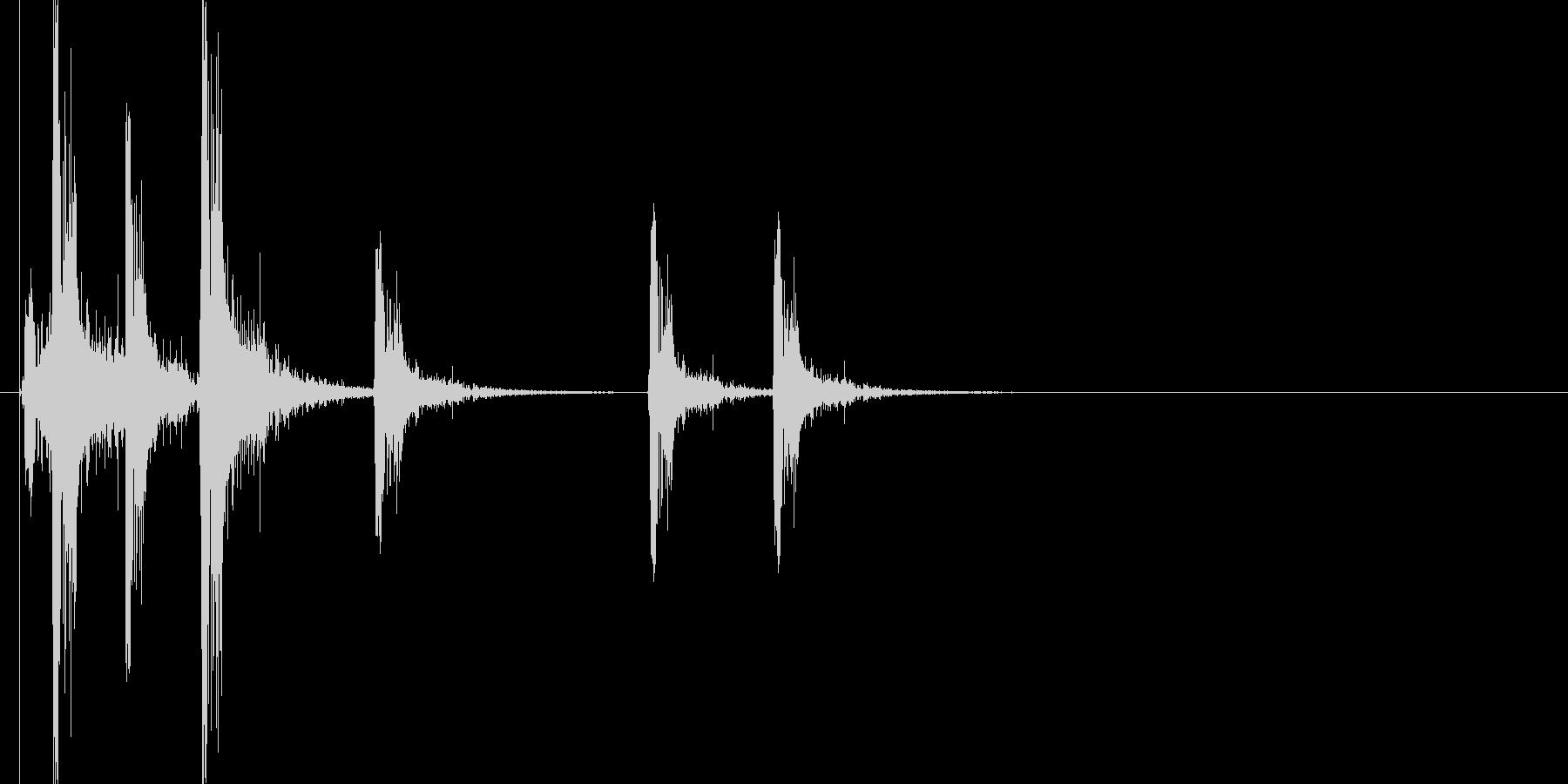 火花/スパーク音(バチバチバチッ)の未再生の波形