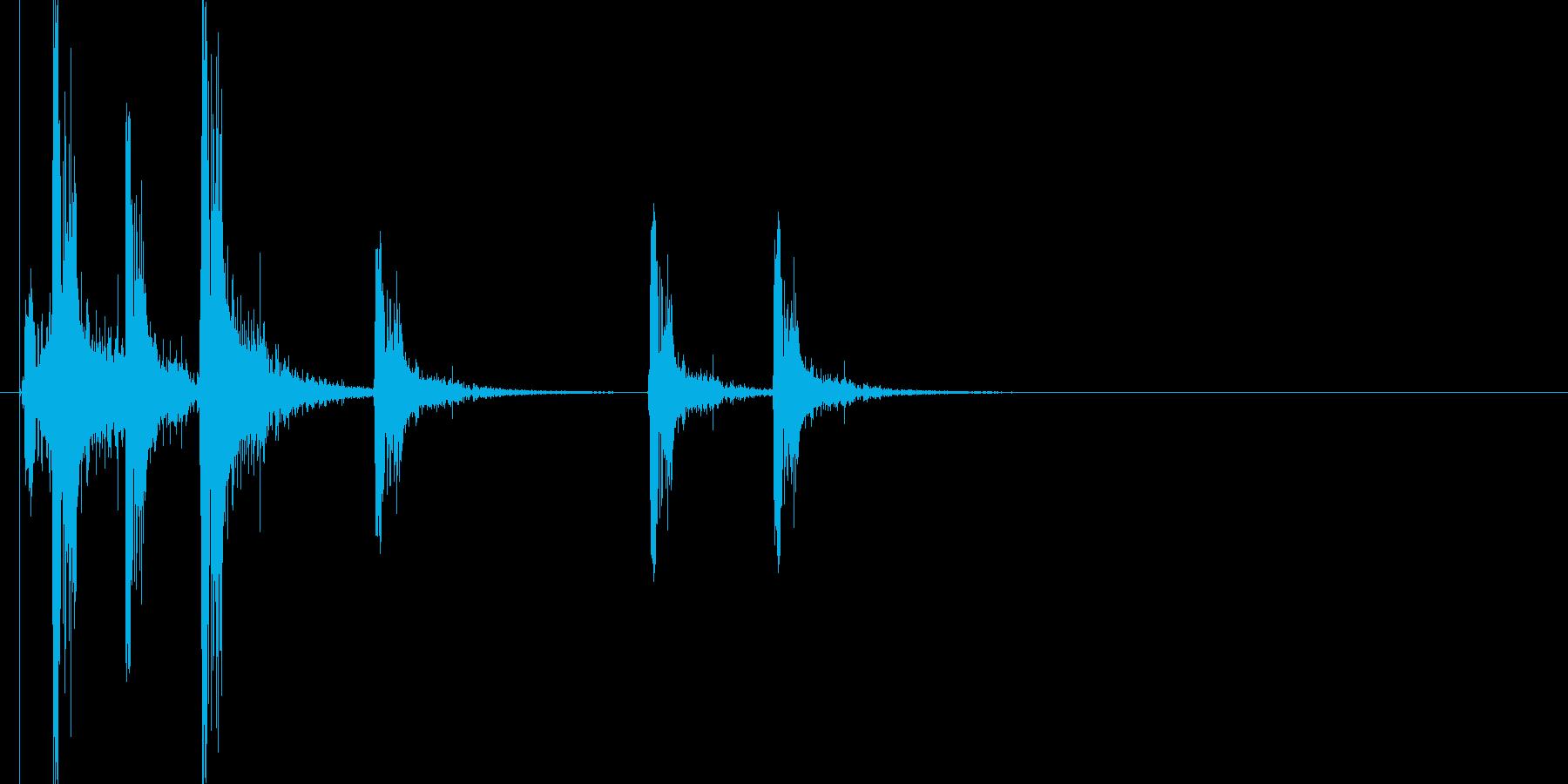 火花/スパーク音(バチバチバチッ)の再生済みの波形
