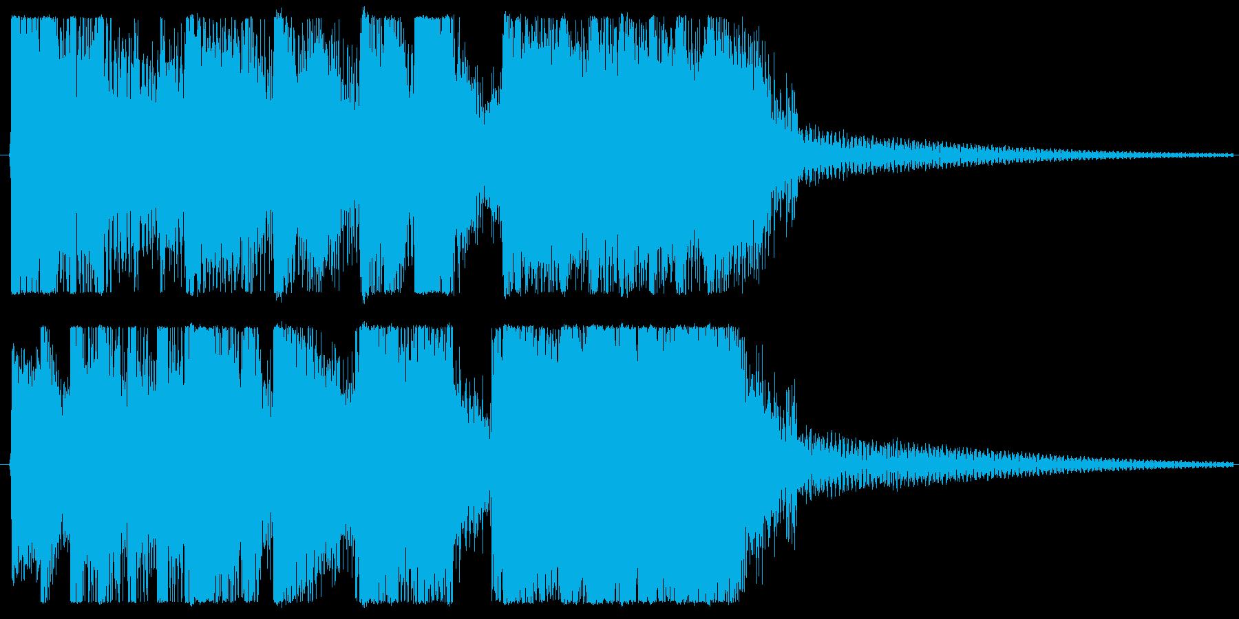 嬉しい・おしゃれ・かわいいファンファーレの再生済みの波形