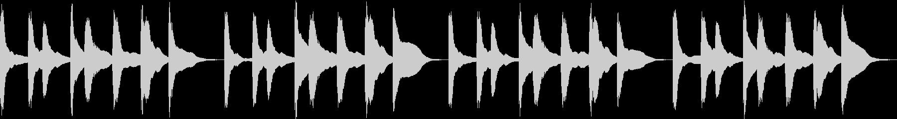 シンプル ベル 着信音 チャイム C15の未再生の波形