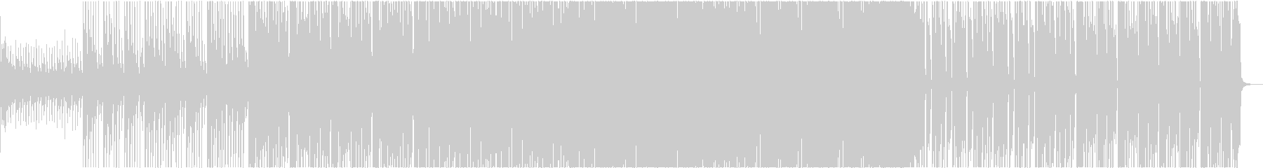 和楽器とストリングスとノイズのミックス曲の未再生の波形