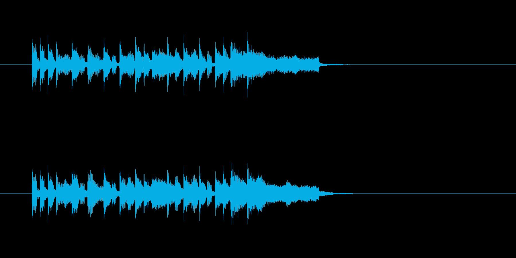 ほのぼの 日常温かい 明るい サックスの再生済みの波形
