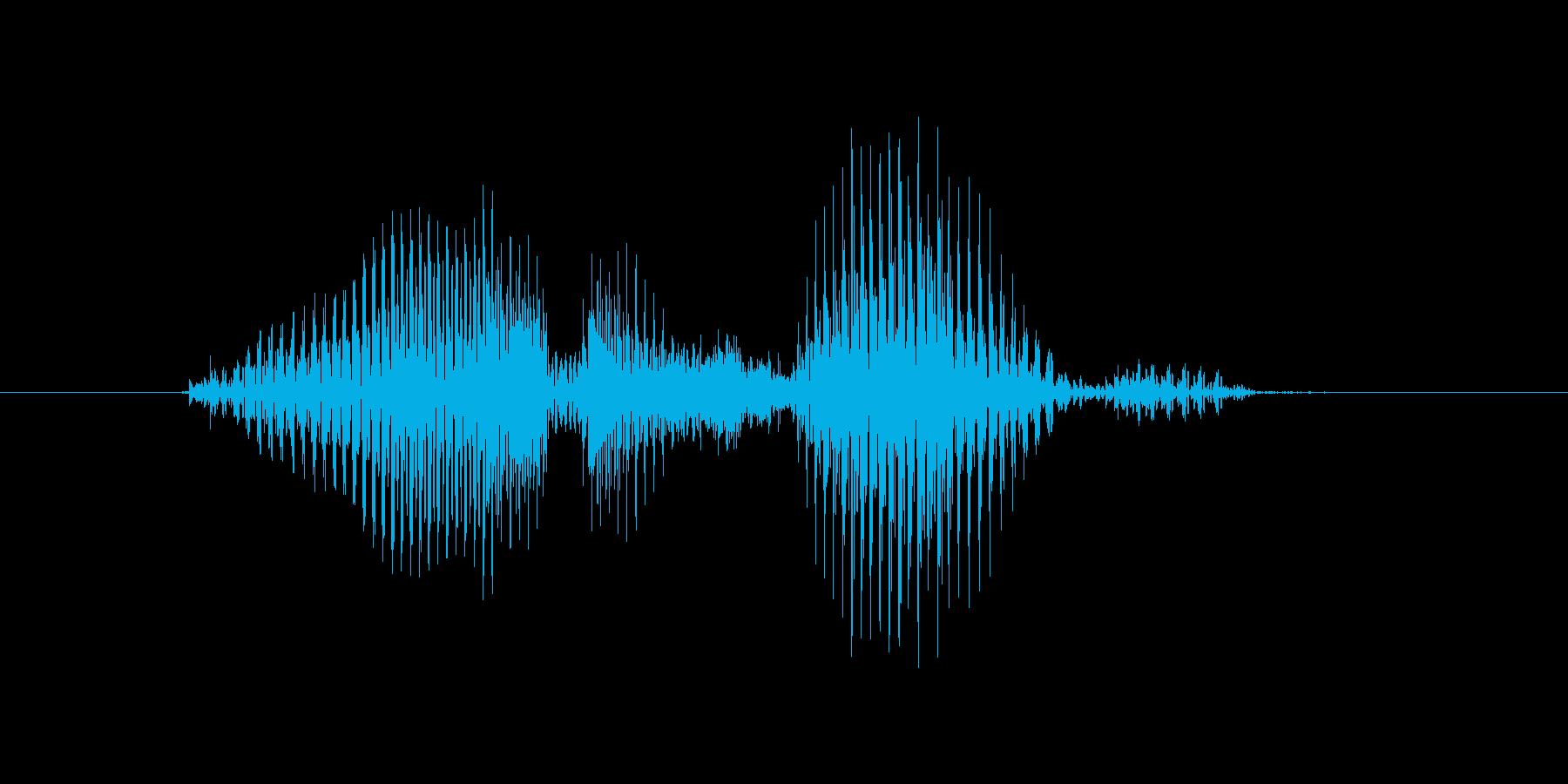 ゴールサイドの再生済みの波形