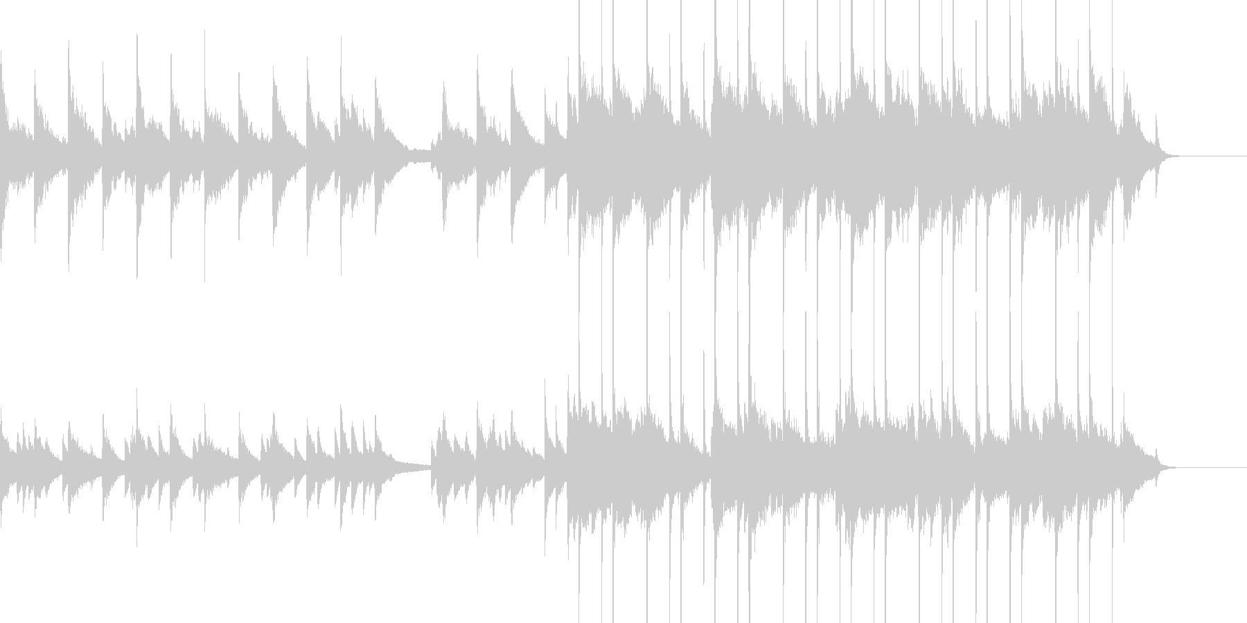 ジャズバラードの未再生の波形