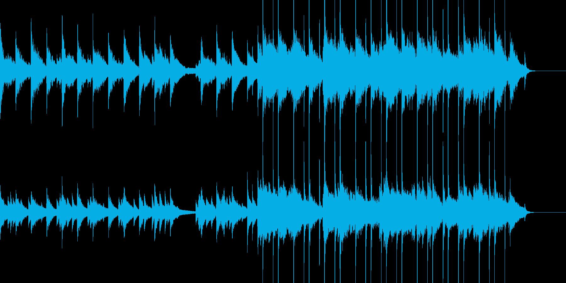 ジャズバラードの再生済みの波形