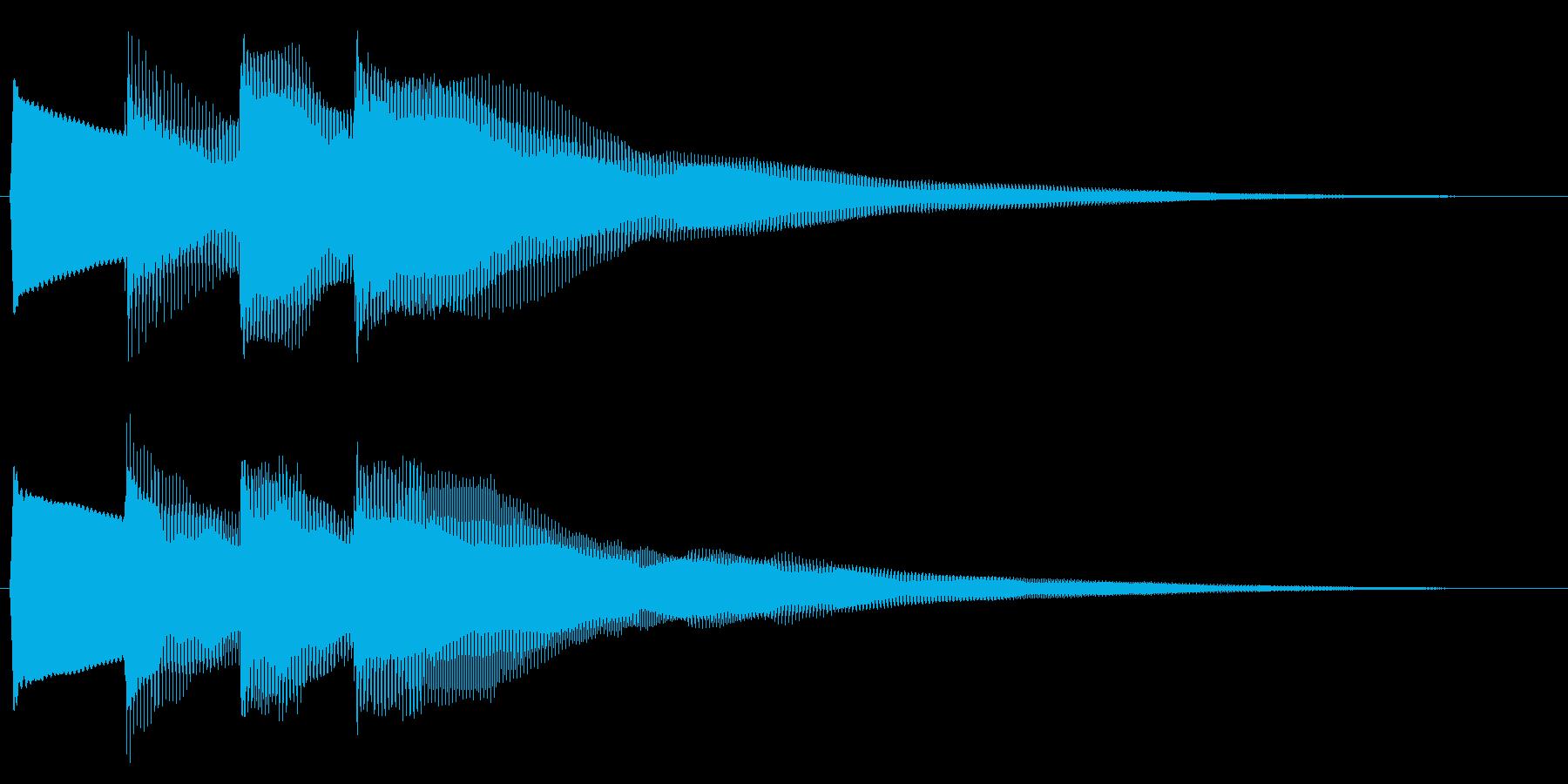 正解/ピンポンピンポン/クイズの再生済みの波形