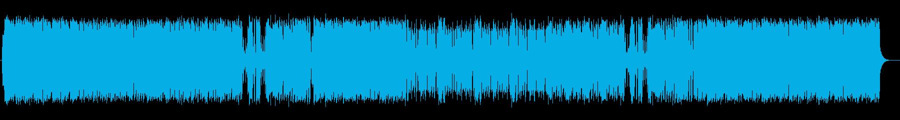シンセサイザーと管楽器の明るいポップスの再生済みの波形