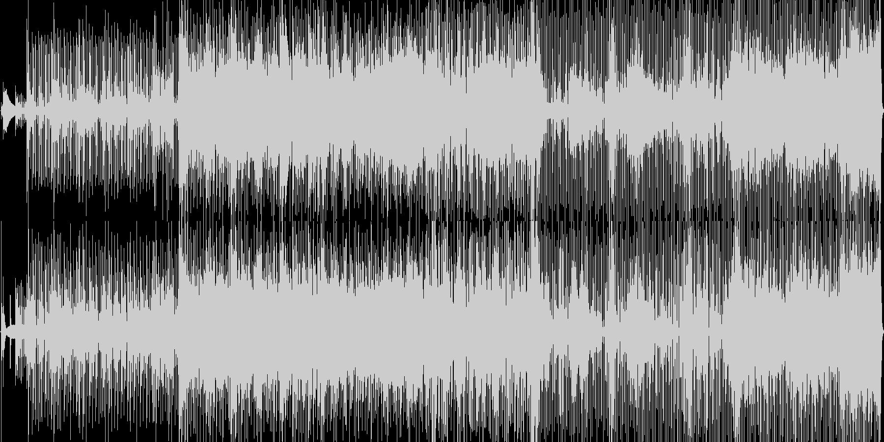 ファンキーなストレートロックンロールの未再生の波形