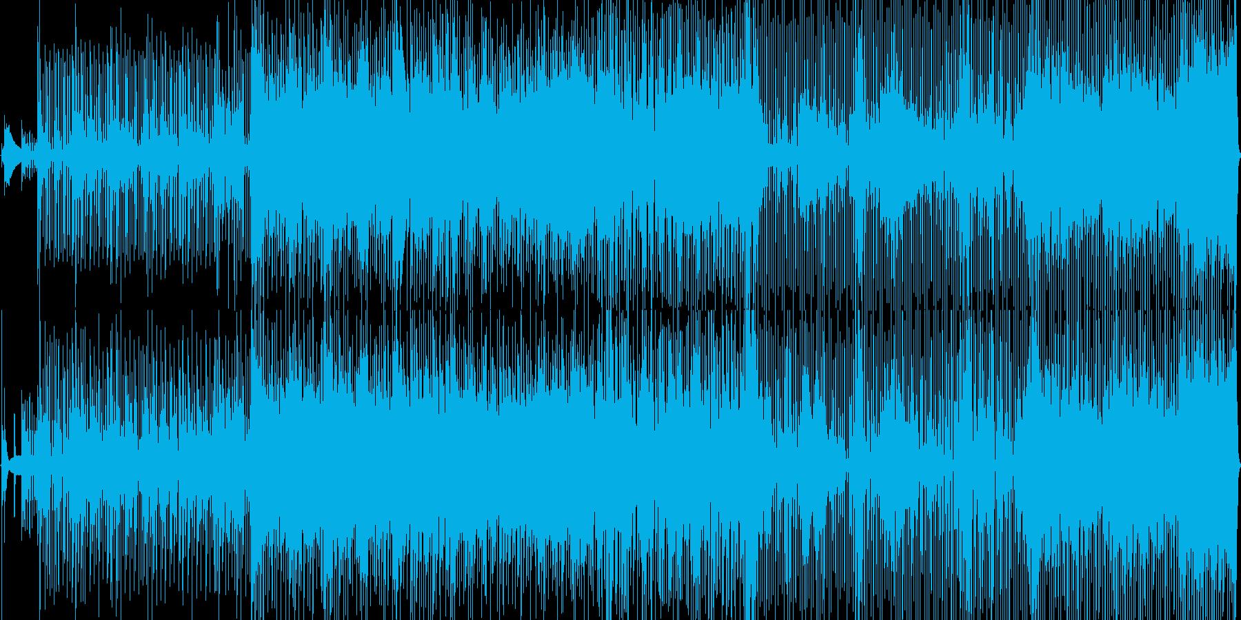 ファンキーなストレートロックンロールの再生済みの波形