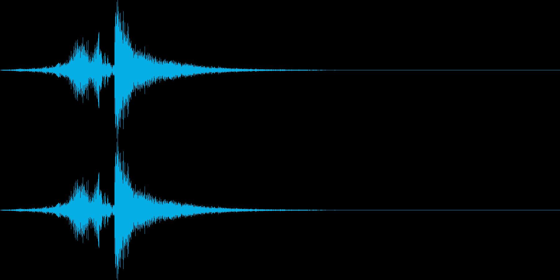 びゅんっ、スパン!(鞭の音)の再生済みの波形