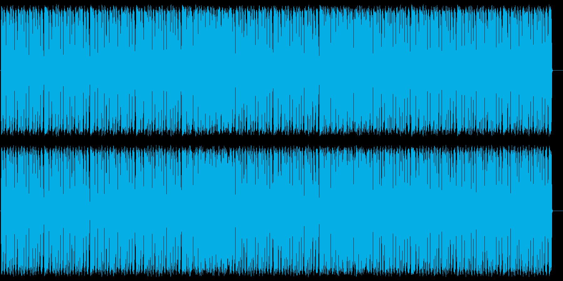 シンセベースのダンスミュージックの再生済みの波形