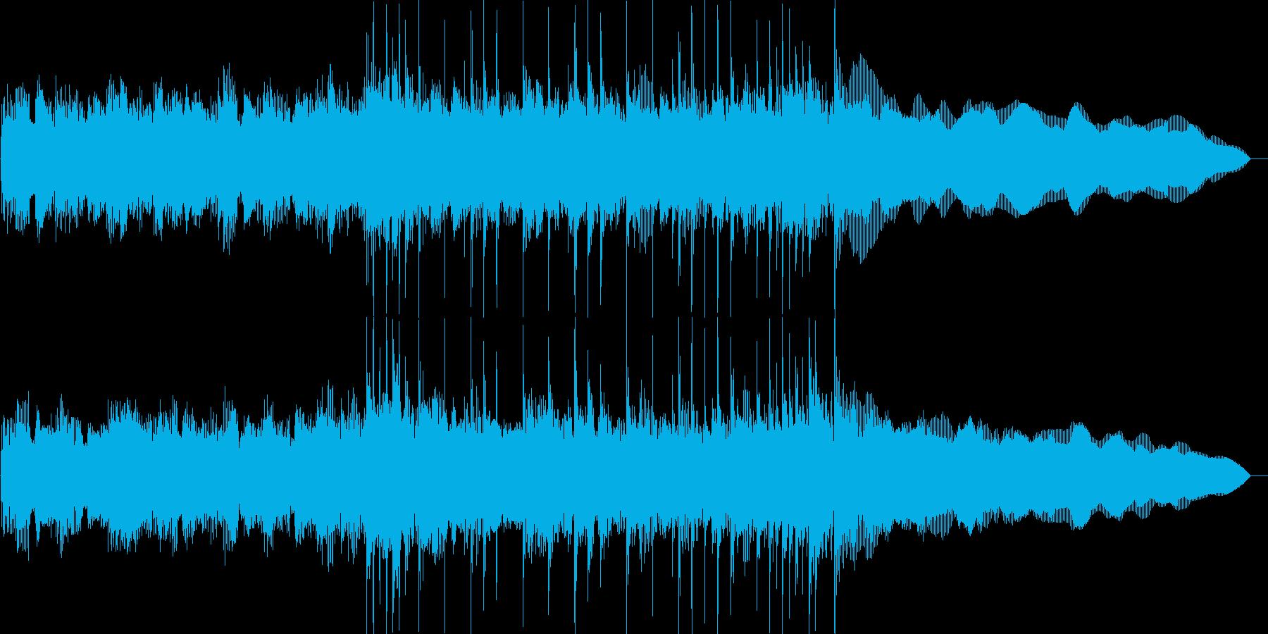 激しいロックのジングルの再生済みの波形