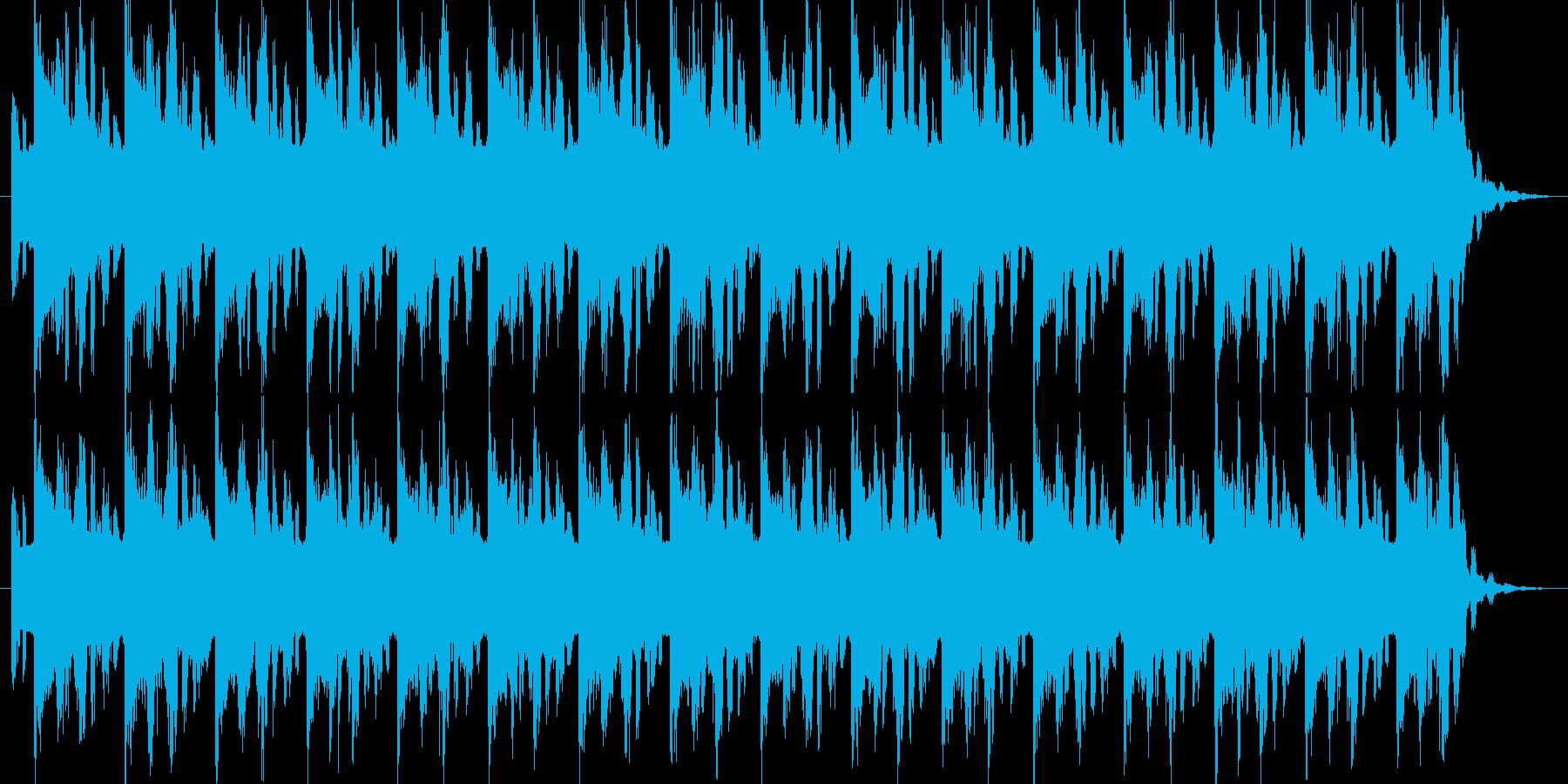 メカニックな場面のBGMの再生済みの波形
