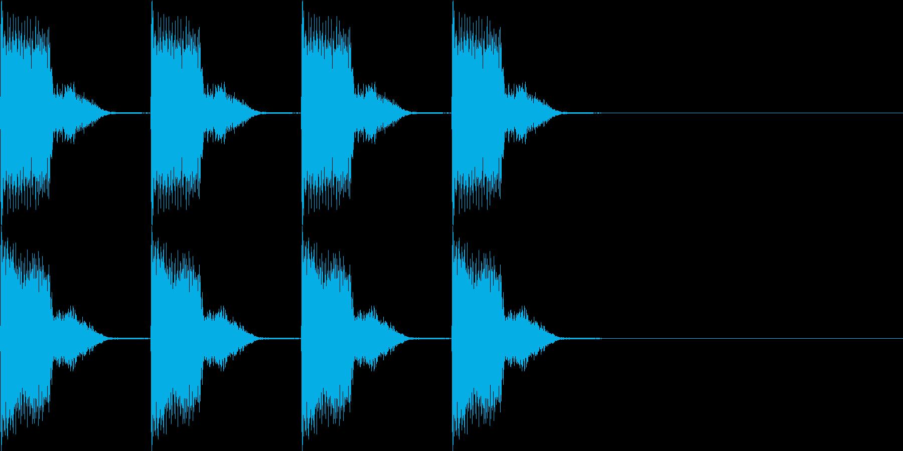ブーブーブーブーの再生済みの波形