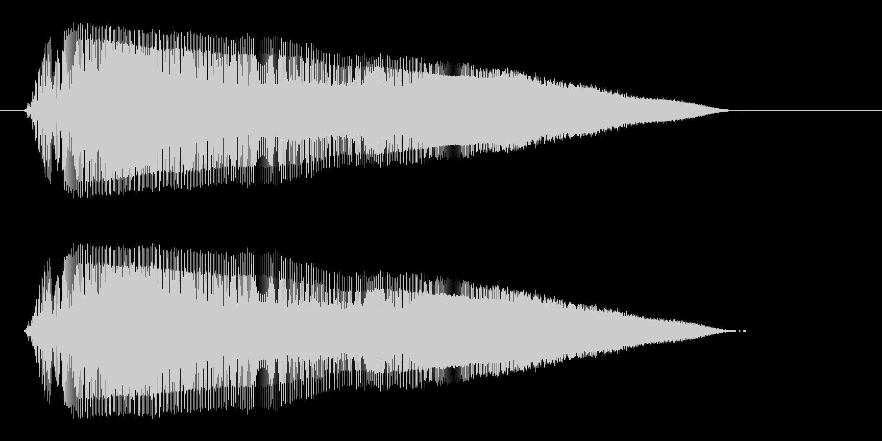 ピュウウウ(ネズミの鳴き声のような音)の未再生の波形