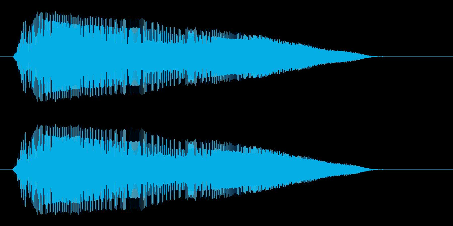 ピュウウウ(ネズミの鳴き声のような音)の再生済みの波形